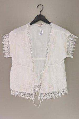 H&M Cardigan Größe S mit Gürtel Kurzarm weiß