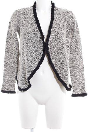 H&M Cardigan schwarz-weiß schlichter Stil