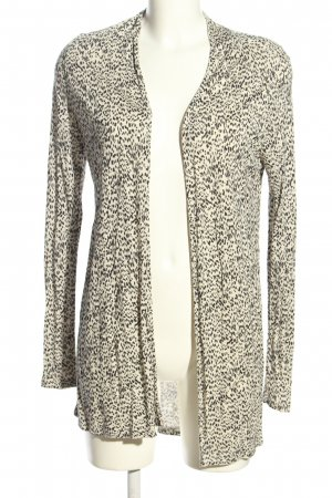 H&M Cardigan natural white-black allover print casual look