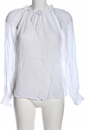 H&M Blusa tipo Carmen blanco look casual