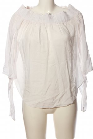H&M Blusa alla Carmen bianco stampa integrale stile casual