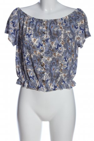 H&M Carmen Blouse abstract pattern casual look