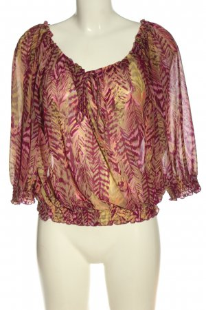 H&M Carmen-Bluse pink-hellorange abstraktes Muster Casual-Look
