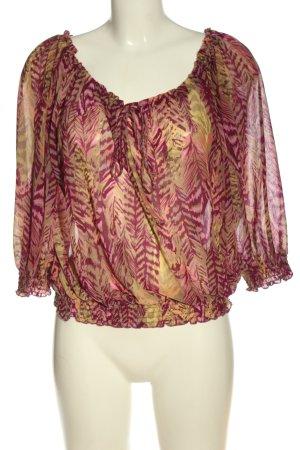 H&M Bluzka typu carmen różowy-jasny pomarańczowy Abstrakcyjny wzór