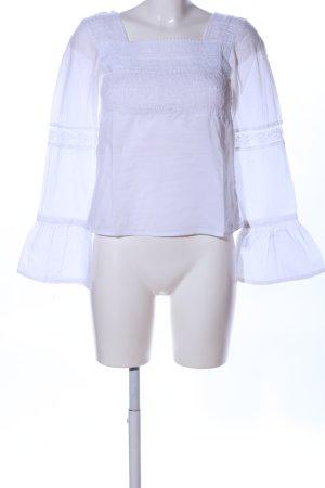 H&M Blusa alla Carmen bianco stile professionale