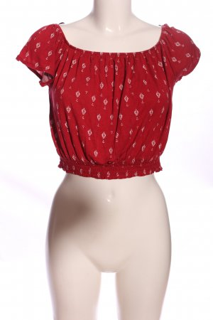 H&M Carmen-Bluse rot Allover-Druck Casual-Look