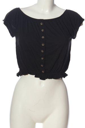 H&M Bluzka typu carmen czarny W stylu casual