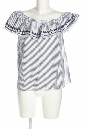 H&M Carmen-Bluse Streifenmuster Casual-Look