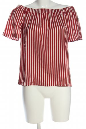 H&M Carmen Blouse red-white allover print casual look