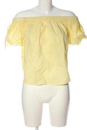 H&M Bluzka typu carmen bladożółty W stylu casual