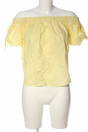 H&M Carmen-Bluse blassgelb Casual-Look
