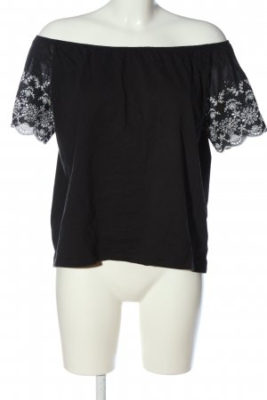 H&M Carmen-Bluse schwarz-weiß Casual-Look