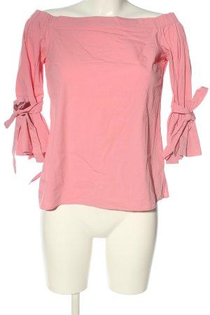 H&M Blusa alla Carmen rosa stile casual