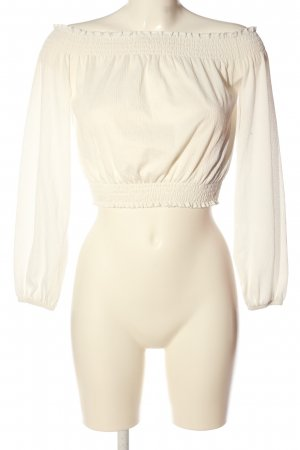 H&M Carmen-Bluse weiß Casual-Look