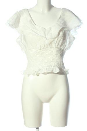 H&M Blouse Carmen blanc style décontracté