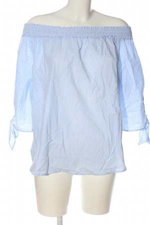 H&M Carmen-Bluse blau-weiß Streifenmuster Casual-Look