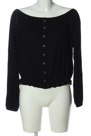 H&M Blouse Carmen noir style décontracté