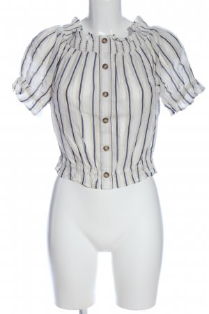 H&M Blouse Carmen motif rayé style décontracté