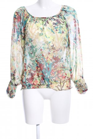 H&M Carmen blouse abstract patroon casual uitstraling