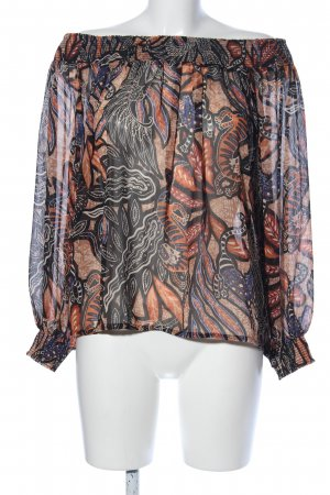 H&M Carmen-Bluse abstraktes Muster Business-Look