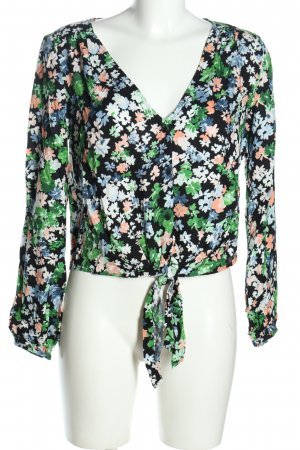 H&M Carmen Blouse flower pattern casual look