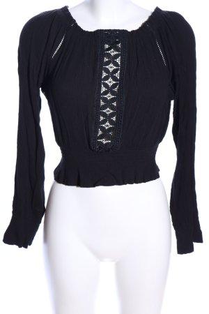 H&M Blusa tipo Carmen negro look casual