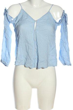 H&M Carmen-Bluse blau Allover-Druck Casual-Look