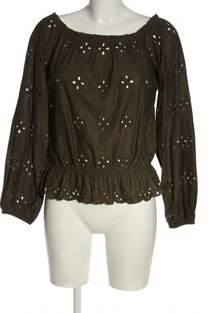 H&M Carmen-Bluse khaki Casual-Look