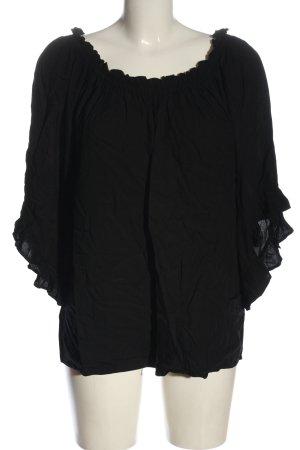 H&M Carmen-Bluse schwarz Casual-Look