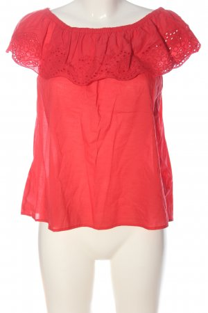 H&M Carmen-Bluse rot Casual-Look