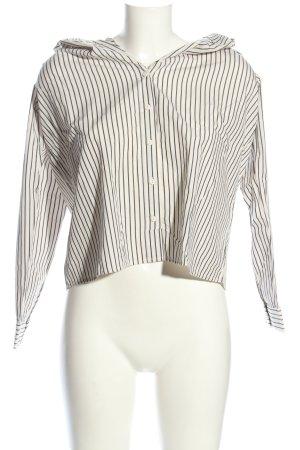 H&M Carmen-Bluse schwarz-wollweiß Streifenmuster Business-Look