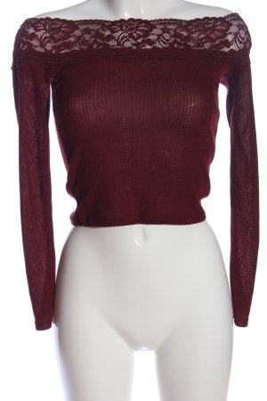 H&M Blouse Carmen rouge polyester