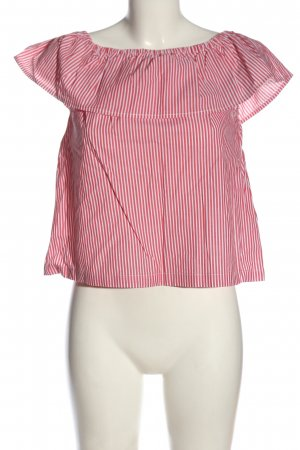 H&M Carmen-Bluse rot-weiß Allover-Druck Casual-Look