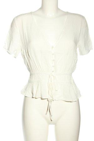 H&M Blusa tipo Carmen blanco look casual