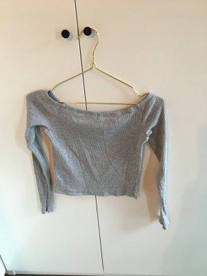 H&M Camisa tipo Carmen gris claro-gris