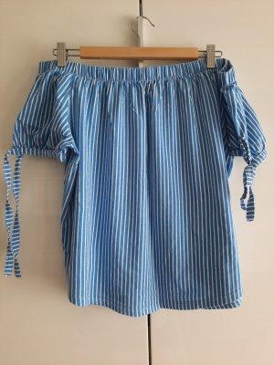 H&M L.O.G.G. Bluzka typu carmen biały-niebieski