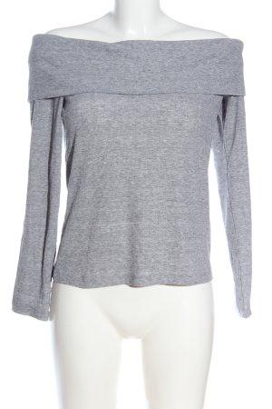 H&M Top épaules dénudées gris clair moucheté style décontracté