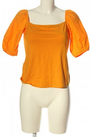 H&M Carmen shirt licht Oranje elegant