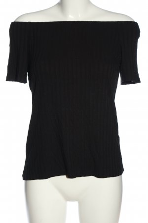 H&M Carmenshirt schwarz Elegant