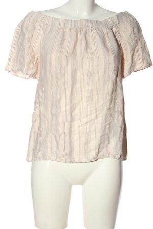 H&M Koszula typu carmen kremowy Wzór w paski W stylu casual