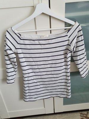 H&M Basic Top épaules dénudées blanc-noir
