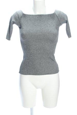 H&M Carmen Shirt light grey flecked casual look