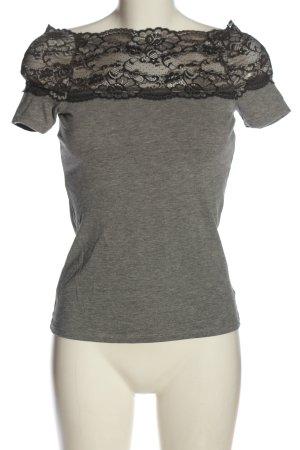 H&M Koszula typu carmen jasnoszary Melanżowy W stylu casual