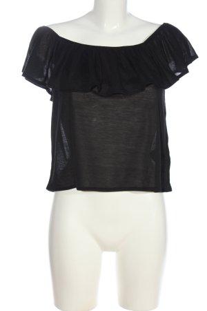 H&M Koszula typu carmen czarny W stylu casual