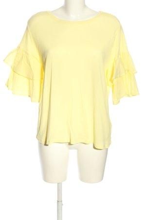 H&M Carmenshirt blassgelb Business-Look