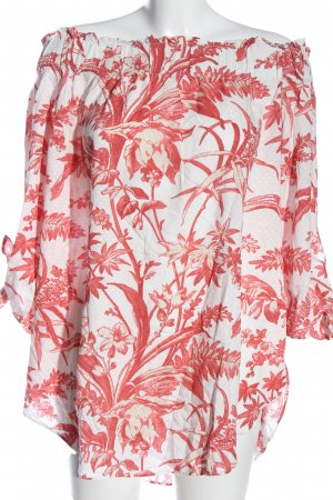 H&M Carmen Shirt white-red allover print casual look