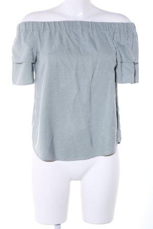 H&M Camisa tipo Carmen caqui look casual