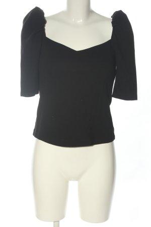 H&M Camisa tipo Carmen negro look casual