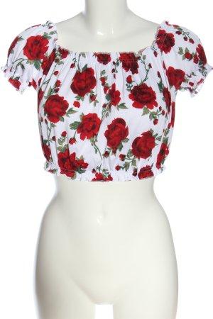 H&M Camisa tipo Carmen estampado de animales look casual