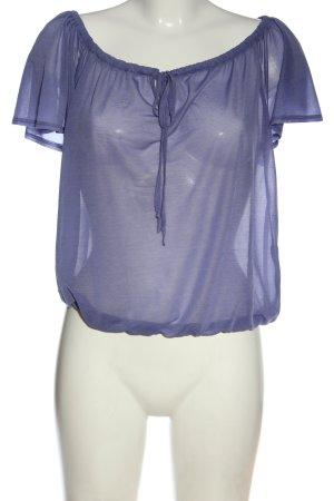 H&M Carmenshirt lila Casual-Look